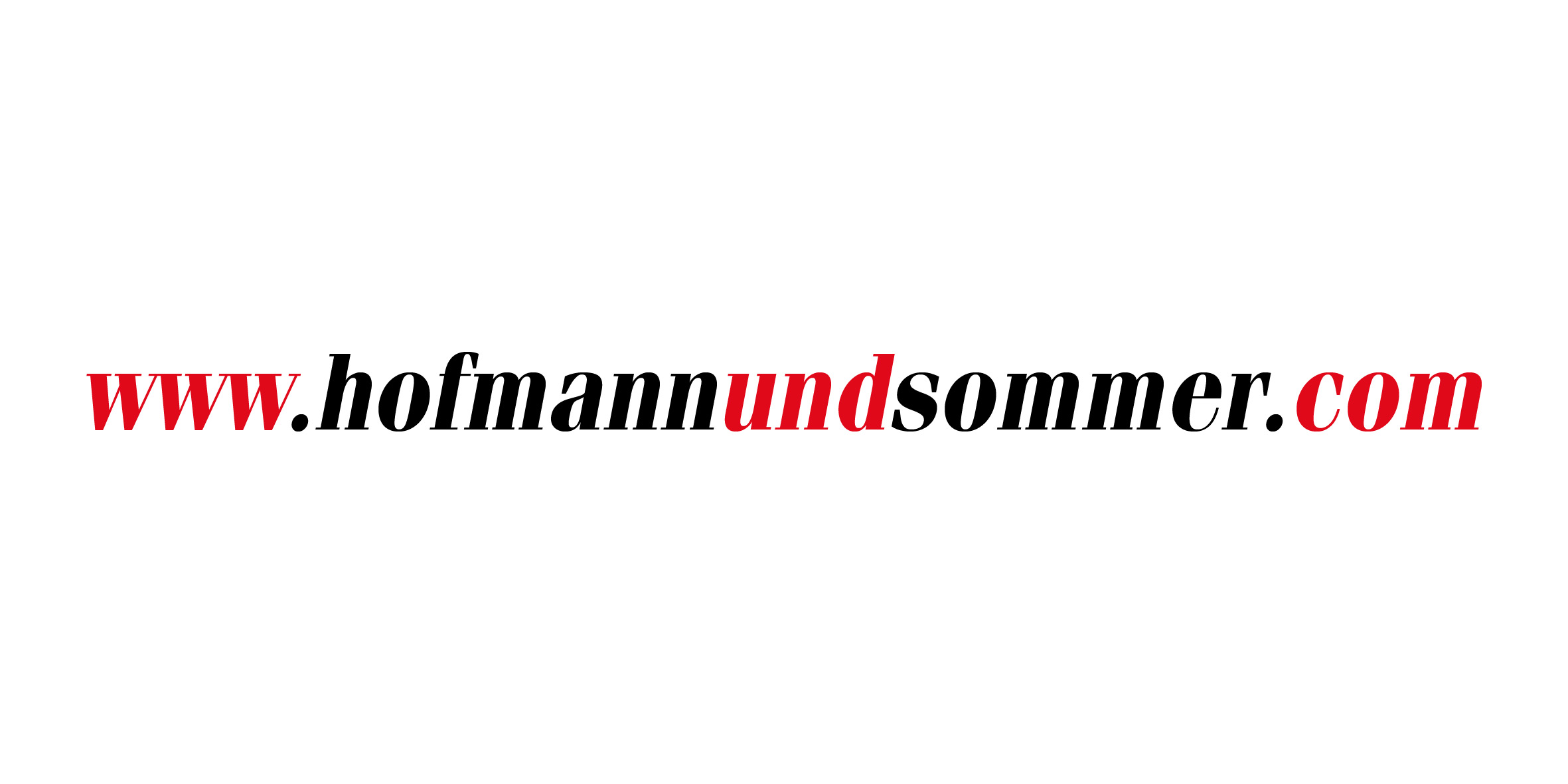 Domain of the website Hofmann & Sommer dotcom