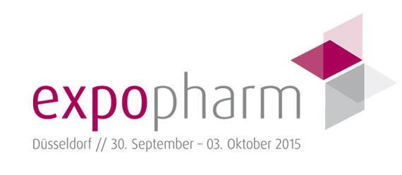 Logo der größten pharmazeutischen Fachmesse Europas, der Expopharm.