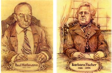 Zwei Zeichnungen von Personen