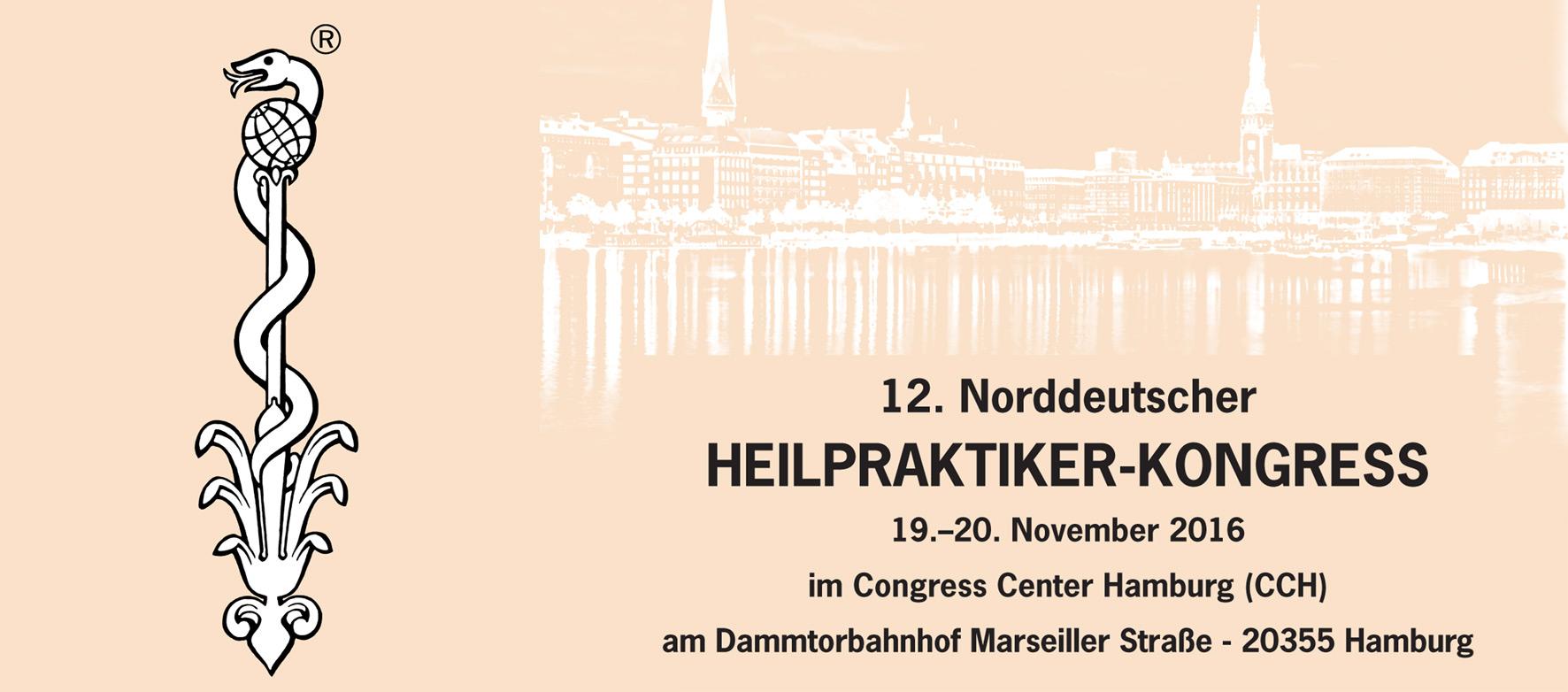 Eine Werbegrafik zur Ankündigung des 12. Norddeutsche Heilpraktiker Kongresses