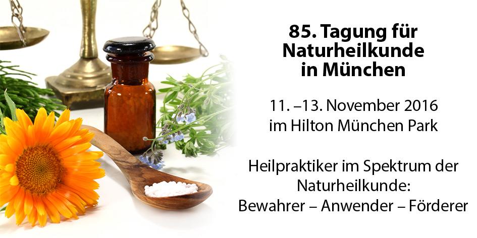 Ankündigung der 85. Tagung für Naturheilkunde in München