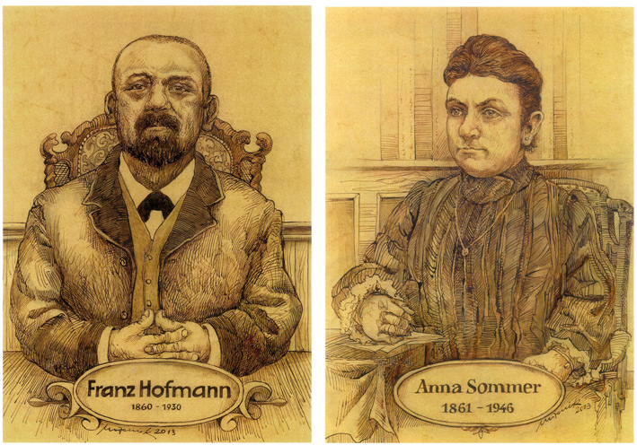 Paintings of Franz Hofmann and Anna Sommer, the founder of Hofmann & Sommer.