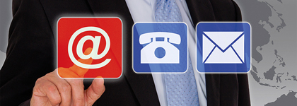 Icon symbolizes contact possibilities for informations about our company