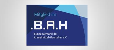 Logo des Bundeverbandes der Arzneimittel-Hersteller e.V. (BAH).