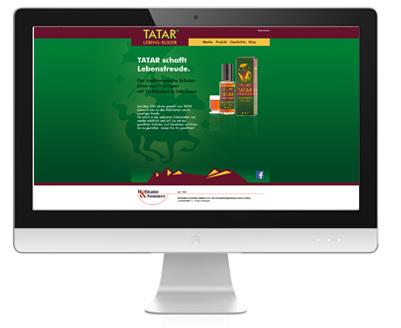 Ein Monitor mit einer Vorschau von www.tatar-ebenselixier.de